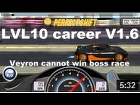 Drag Racing level 10 career Bugatti Veyron 16.4 SS tune setup V1.6