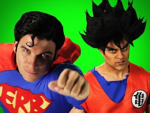 Goku vs Superman.  Behind the Scenes of Epic Rap Battles of History.