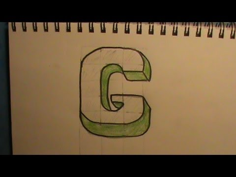 How to Draw the Letter G in 3D - YouTube