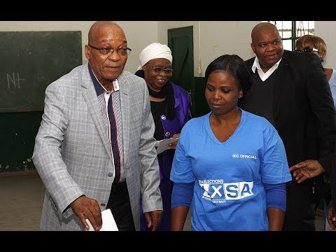 South Africa elections: Zuma casts his vote