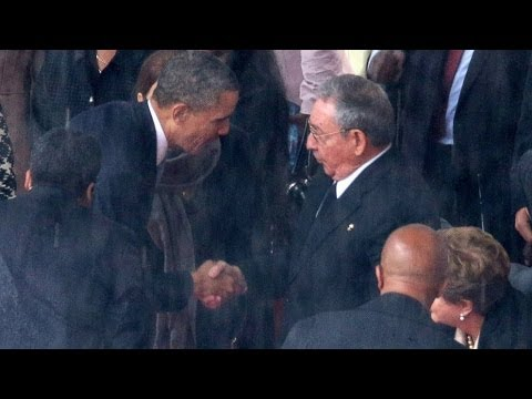 Obama Shakes Hands with Raul Castro, Creates Outrage