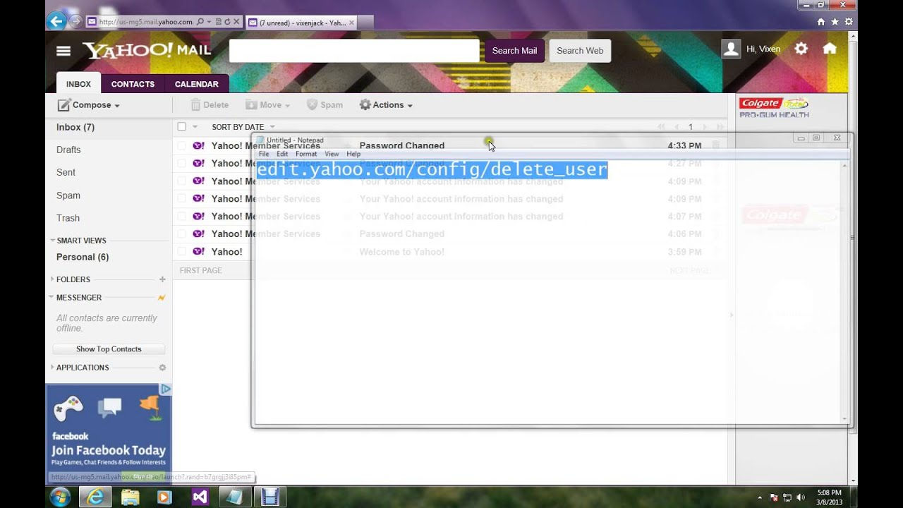 How To Delete Yahoo Account Permanently - 105.3KB