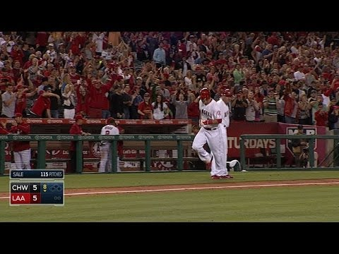 Trout ties game with grand slam off Sale