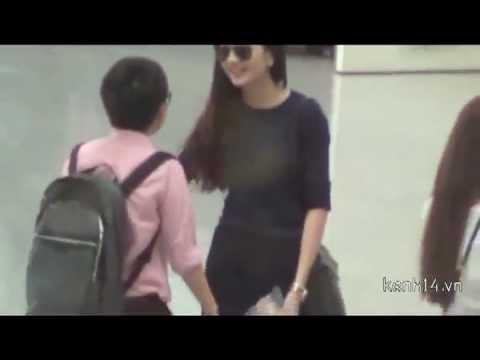 Clip Thiều Bảo Trang ôm và hôn Phương Uyên ở sân bay - www.meliaspa.vn