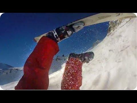 Je libo fakt hodně dlouhý pád na lyžích?! :-O
