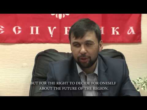 Denis Pushilin - Talking about the Referendum questions