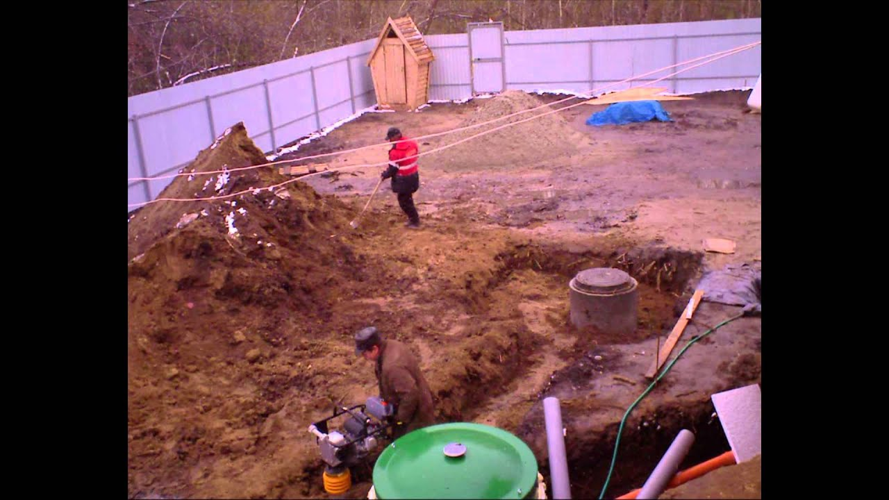 Выгребная яма из скатов своими руками