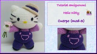 Tutorial Amigurumi Hello Kitty Cuerpo (mod-3)