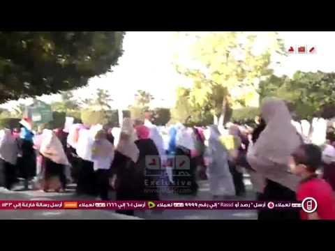 مسيرات وسلاسل بشرية مناهضة للانقلاب بالشرقية