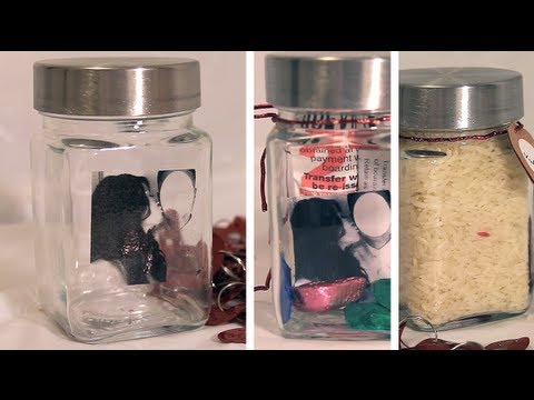 Wedding Gift Ideas Youtube : Gift ideas: Using a Jar (Valentines, Christmas, Anniversary, Wedding ...
