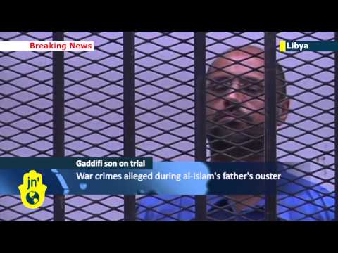 Son of Gaddafi on trial: Saif al-Islam appears in Libyan court charged with war crimes