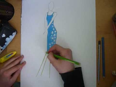Jak narysowac projekt sukienki