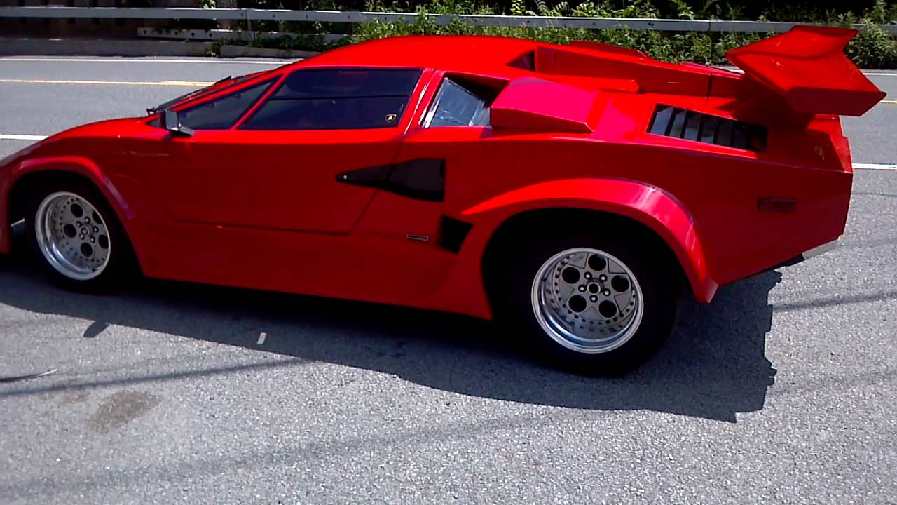 1988 lambo countach kit car driving away youtube. Black Bedroom Furniture Sets. Home Design Ideas