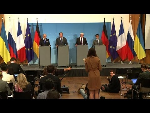Top diplomats urge new Ukraine truce talks and ceasefire