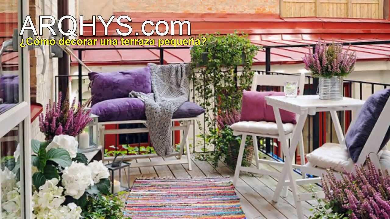 C mo decorar una terraza peque a decorar espacios for Como cerrar una terraza pequena
