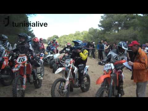 Motocross Racers in the Forests of Bizerte, Tunisia