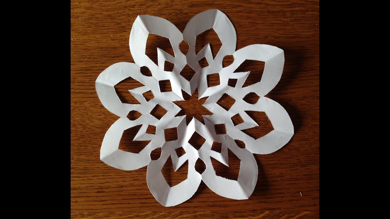 Как сделать ажурную снежинку из бумаги своими руками