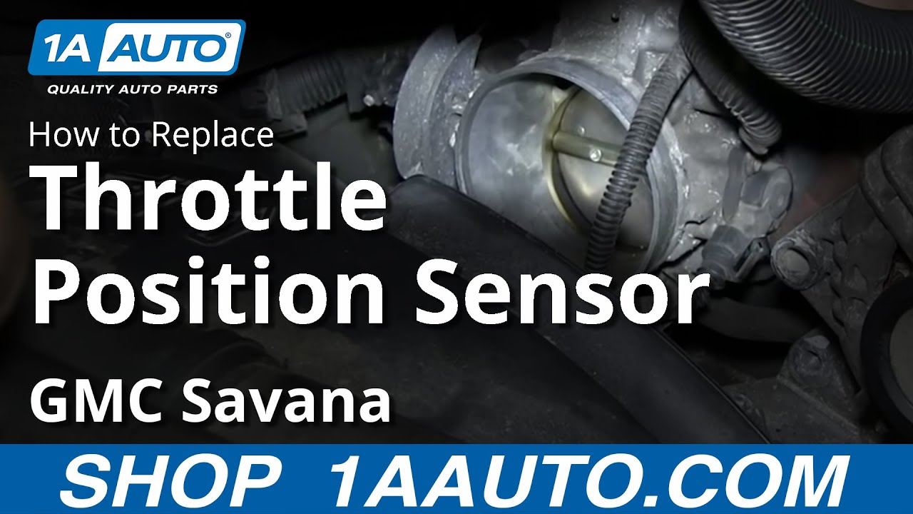 How To Install Replace TPS Throttle Position Sensor 2000-13 GMC Savana ...