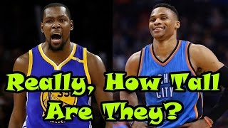 4 RIDICULOUS NBA Players' Official Heights