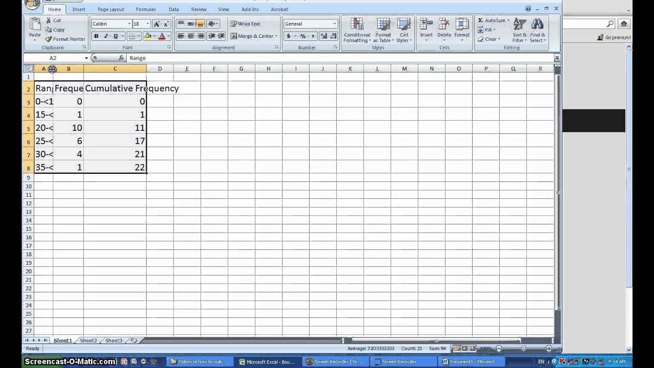 Make Relative Frequency Distribution Table Excel