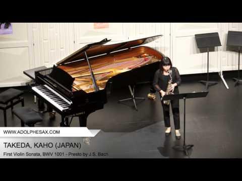 Dinant 2014 TAKEDA Kaho (First Violin Sonata, BWV 1001 Presto by J S Bach )