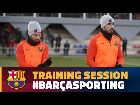Training session ahead of the Champions League match against Sporting Clube