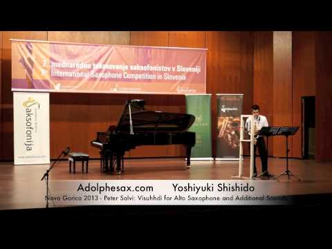 Yoshiyuki Shishido – Nova Gorica 2013 – Peter Salvi: Visuhhdi for Alto Saxophone and Additional Soun