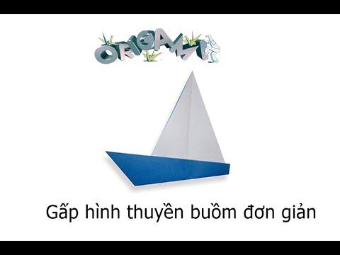 Hướng dẫn cách gấp thuyền buồm bằng giấy - Xếp hình Origami - How to make a yacht - Tips tutorial