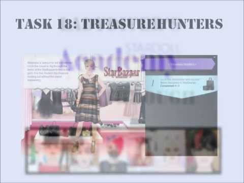 Stardoll Academy Walkthrough Task 18: Tressure Hunters