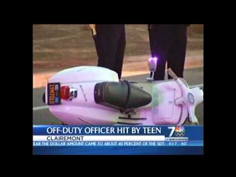 Teen Driver Collides with Off-Duty Officer on Moped - KNSD-TV