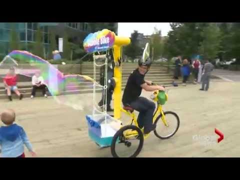 Global News: Bubble Bike on the Halifax Waterfront