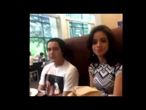Camila Cabello and Austin Mahone sitting together on lunch (fifth harmony)