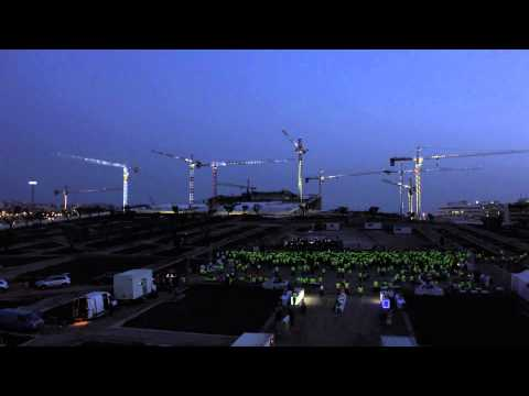 Dance of the Cranes at the SNFCC site - Time Lapse
