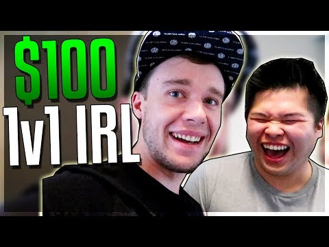 PANTS VISITS ME TO 1v1 IRL FOR $100!?!?!