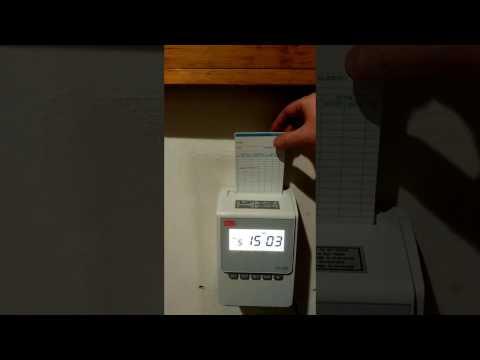 Marcatempo timbracartellino Max1600 riconoscimento automatico del lato di timbratura