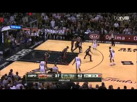 Manu Ginobili Dunks On Chris Bosh   Heat vs Spurs   Game 5  