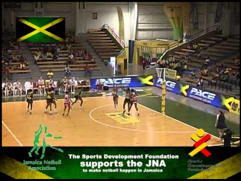 Netball! Jamaica's most popular court game.