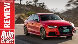 New Audi RS3 review - 395bhp road rocket launched in the desert. Auto Express.