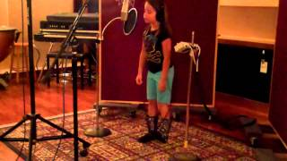 Aaralyn in the Studio Singing Dog Poop - Broken Crayons