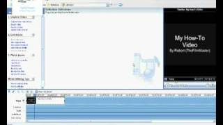 How To Change A Title Background Colour In Windows Movie Maker