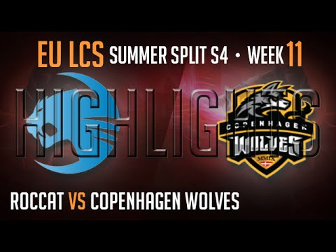 LCS Highlights Roccat vs Copenhagen Wolves Super Week 11 EU Summer 2014 ROC vs CW S4 W11D2G3 Season