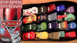 Cars 2 Pop Open Speedway Race Case Playset Disney Pixar