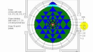 How To Draw Sri Chakra Part 2