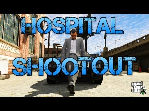 Grand Theft Auto V Missions | HOSPITAL SHOOTOUT | PS3 HD Gameplay