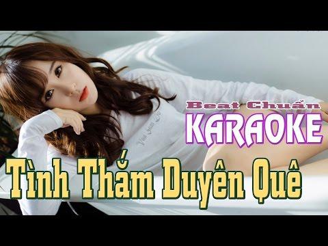 Tình thắm duyên quê Karaoke HD || Beat Chuẩn || Ngắm gái xinh FullHD