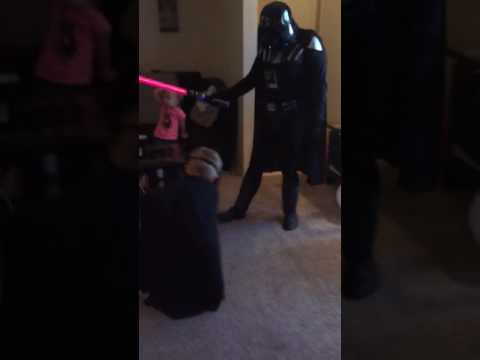 Noah meeting darth vader