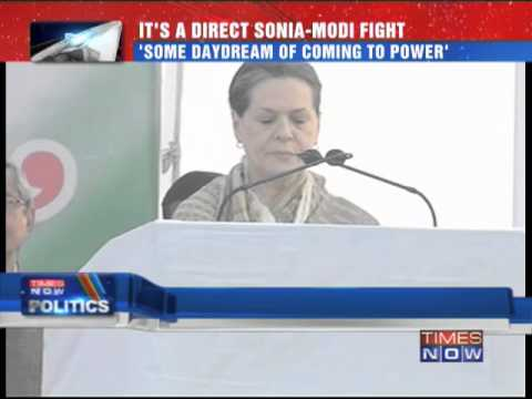 It's a direct Sonia Gandhi vs Narendra  Modi fight for 2014