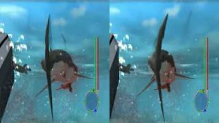JAWS UNLEASHED In 3D, IZ3D Side By Side Stereo Crossview
