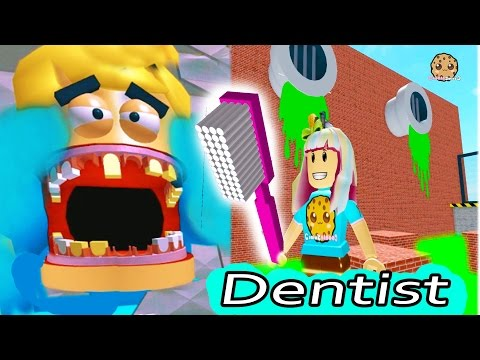 Dental Office Visit Jumping On Teeth  Poop  Roblox Video Game Play Escape The Evil Dentist Obby