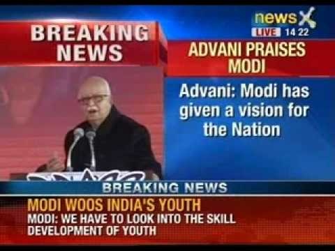 Lal Krishna Advani giving the concluding speech at BJP's National meet - NewsX